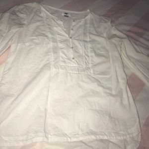 Old Navy White Long Sleeve Shirt